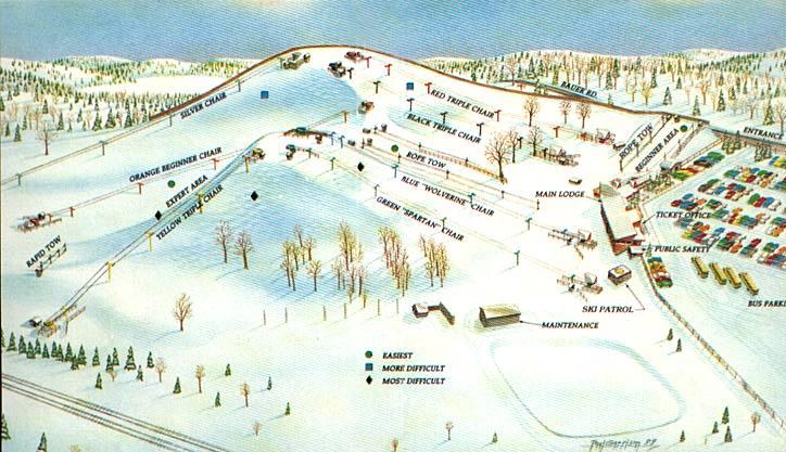 Ski In Michigan Map.Ski Michigan Ski Areas And Ski Travel In Michigan